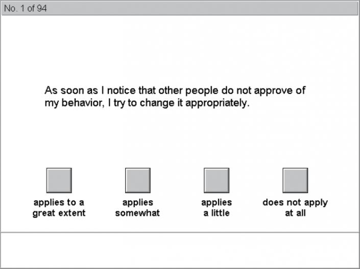 نمایی از آزمون SHASUK خدمات مشتری و مقیاس تعیین موقعیت