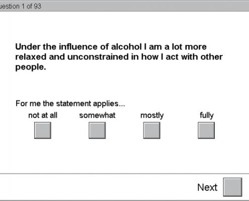 نمایی از FFT پرسشنامه مشروب خواری زیاد