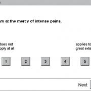 نمایی از FVS پرسشنامه برای واکنش نسبت به درد